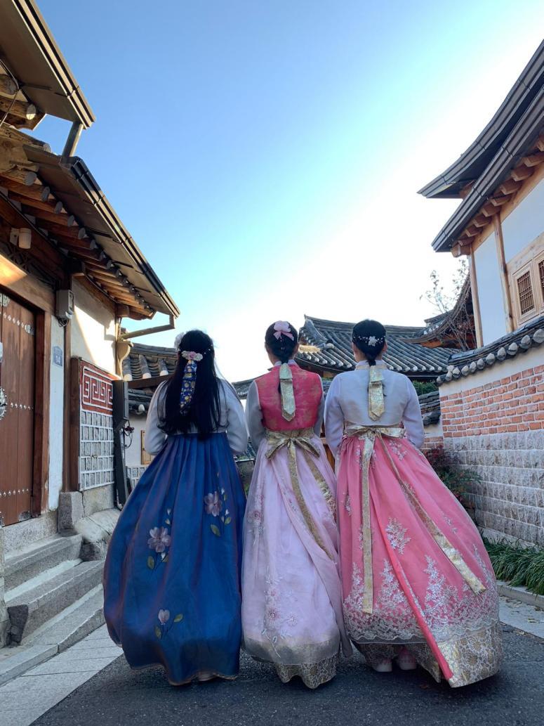 Hanbok at Hanok Bukchon Village